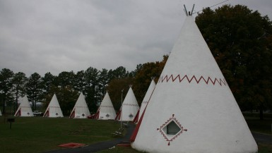Wigwam Village Inn #2 teepee shaped motel in Cave City, Kentucky
