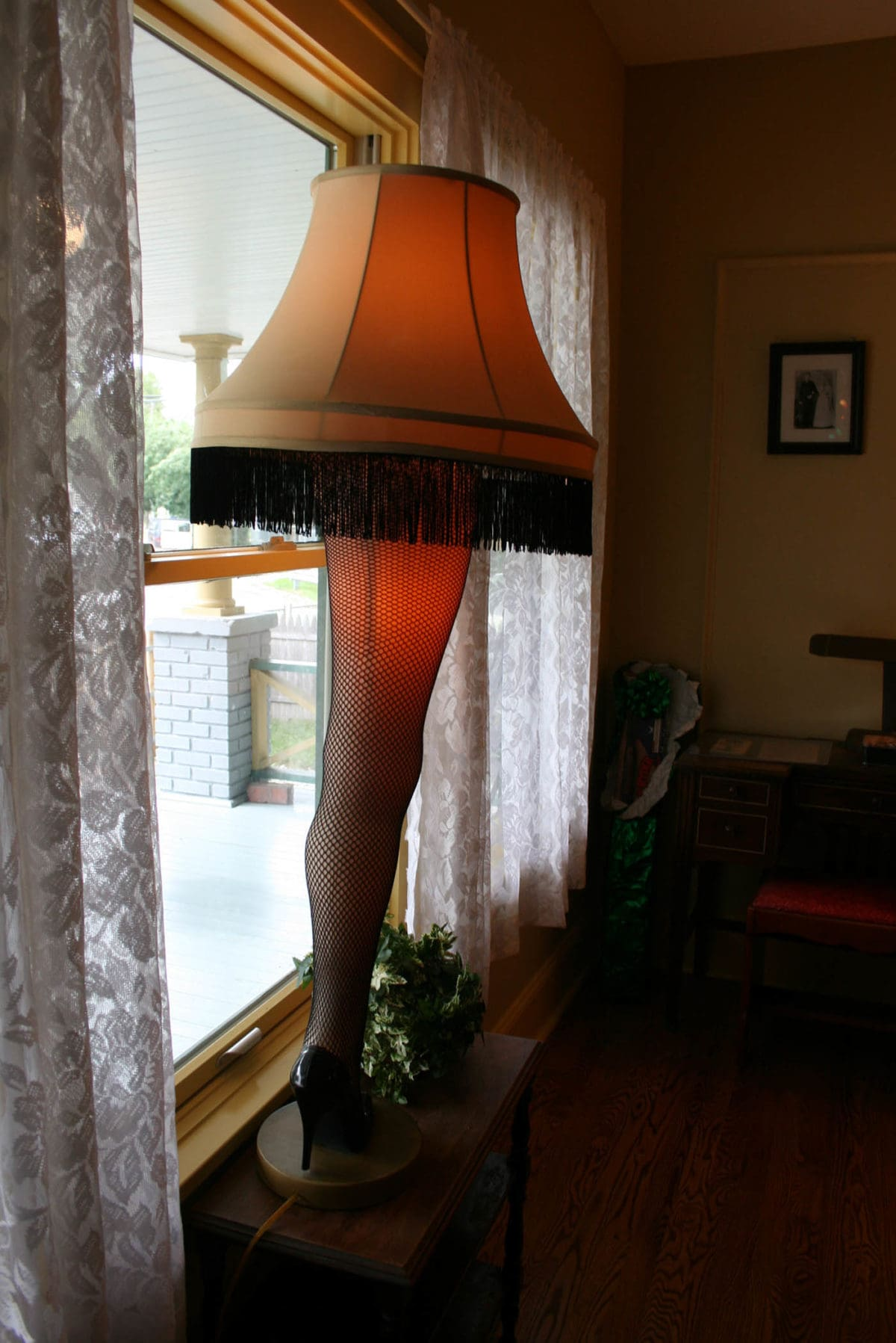 Leg Lamp in A Christmas Story House in Cleveland, Ohio