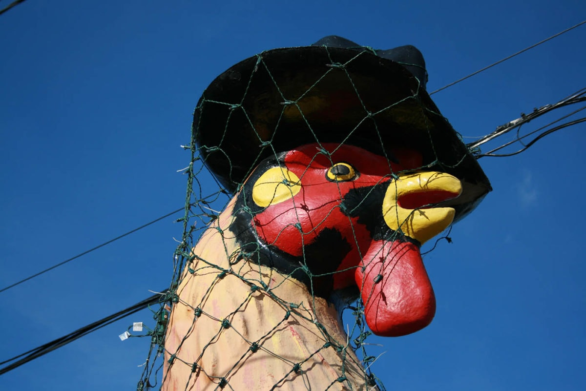 ? Giant Rooster in a Top Hat in East Peoria, Illinois
