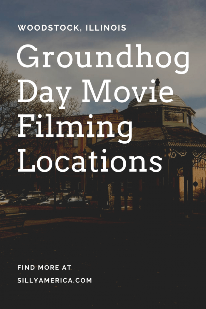 Dressed up as Punxsutawney, Pennsylvania, the Groundhog Day movie was actually filmed in Woodstock, Illinois, and you can visit everywhere Bill Murray was. Visit this town full of funny roadside attractions featured in scenes from the movie and join the party on an Illinois road trip or to celebrate the holiday. #GroundhogDay #GroundhogDayHumor #GroundhogDayMovie #GroundhogDayActivities #GroundhogDayMovieScene #GroundhogDayMovieArt #GroundhogDayMovieParty #GroundhogDayMovieFunny #IllinoisTravel