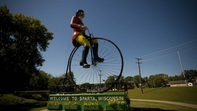 Big Ben, Ben Bikin - World's Largest Bicyclist in Sparta, Wisconsin