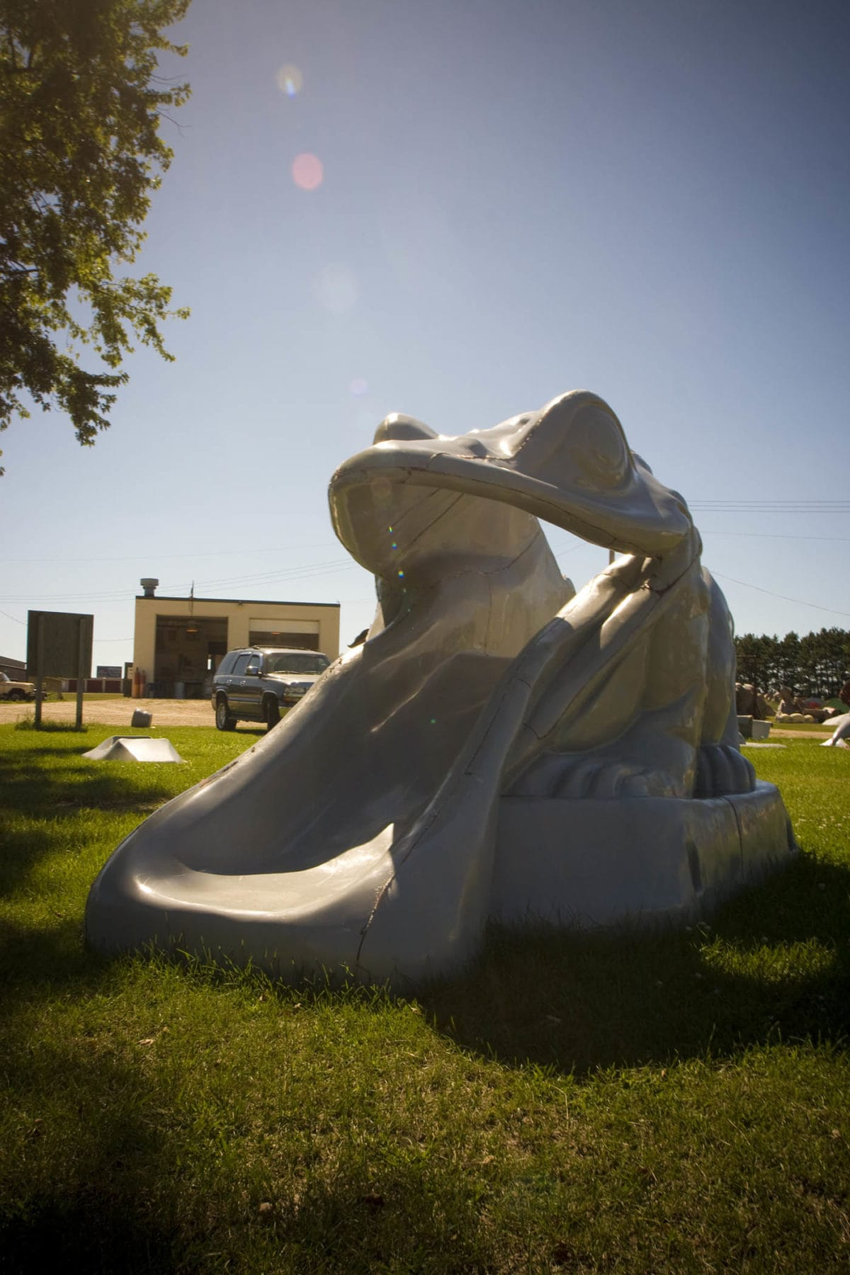 Unfinished fiberglass frog slide - Fast Fiberglass Animals, Shapes & Trademarks in Sparta, Wisconsin