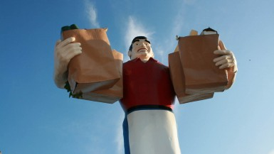 Big John Grocery Clerk in Metropolis, Illinois