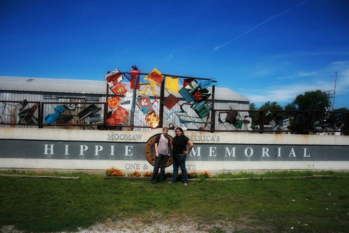 One and Only Hippie Memorial in Arcola, Illinois