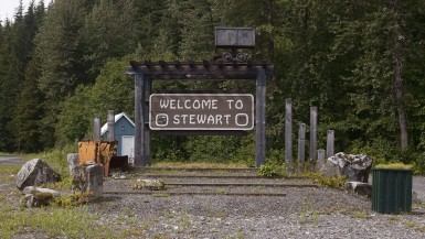 Visiting Stewart, British Colombia, Canada.