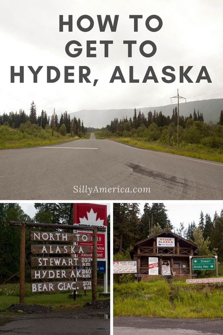How do you get to Hyder, Alaska from Seattle, Washington? Here's a map and directions plus photos of some essential stops along the road trip route. Follow this road trip route and itinerary across British Columbia to find stops on your Alaska road trip to Hyder. #AlaskaRoadTrip #AlaskaRoadTripMap #RoadTripMap  #AlaskaRoadTripItinerary #AlaskaItinerary #RoadTrip #RoadsideAttraction #RoadsideAttractions #AlaskaRoadsideAttractions #AlaskaRoadsideAttraction #AlaskaRoadTripStops #HyderAlaska