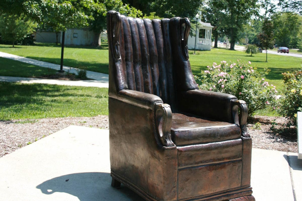 Replica of Robert Wadlow's Chair in Alton, Illinois