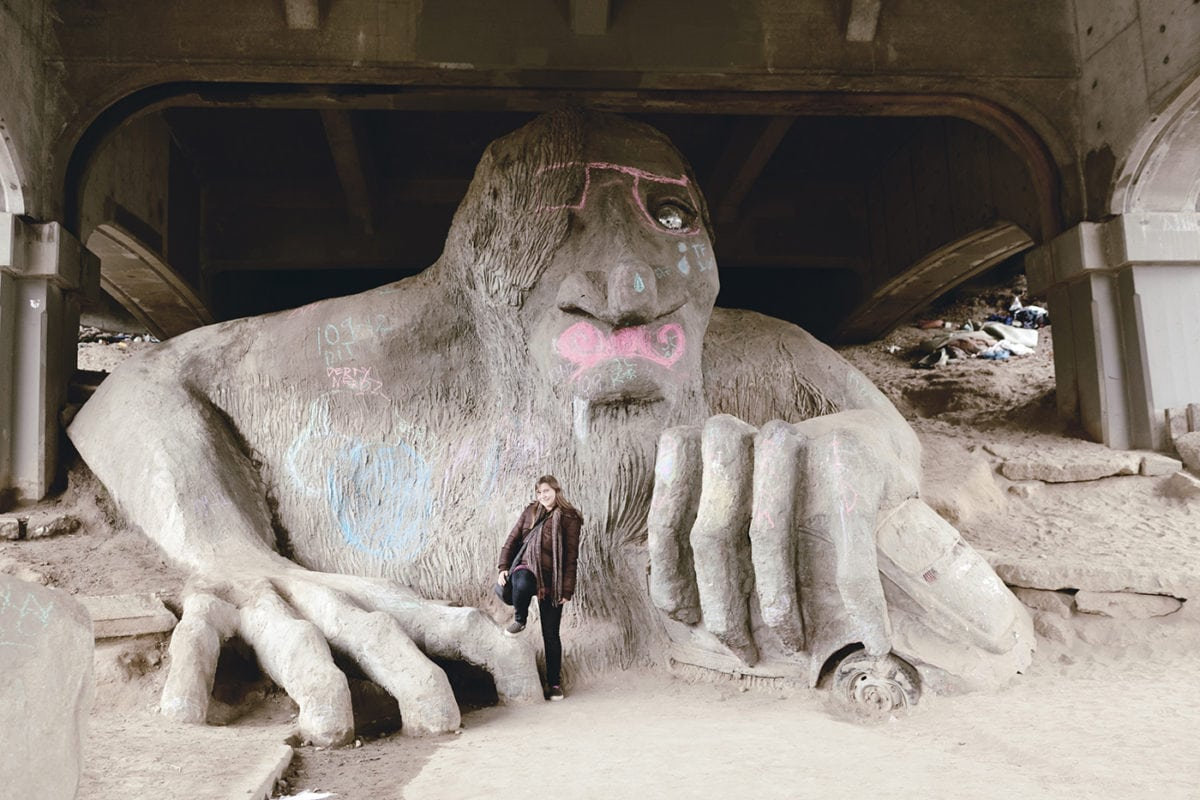 The Fremont Troll in Seattle, Washington