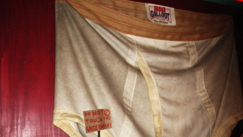 World's Largest Underwear at City Museum's Museum of Mirth, Mystery and Mayhem in St. Louis, Missouri.