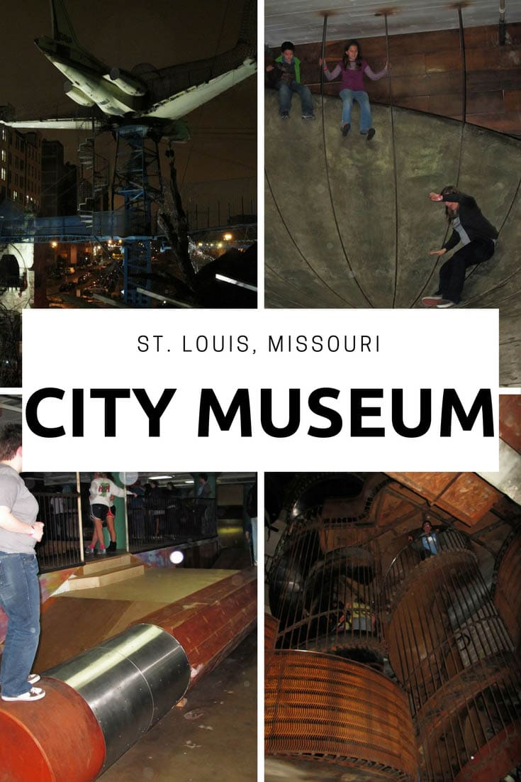 Photos from The City Museum, in St. Louis, Missouri. This fun museum is a playground for adults and children and a must place to visit in Missouri on vacation. Add it to your travel bucket list and road trip itinerary. #MissouriRoadsideAttractions #MissouriRoadsideAttraction #RoadsideAttractions #RoadsideAttraction #RoadTrip #MissouriRoadTrip #PlacestoVisitinMissouri #MissouriRoadTripIdeas #MissouriTravelRoadTrip #WeirdRoadsideAttractions #RoadTripStops