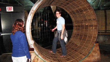 Human Hamster Wheel at The City Museum in St. Louis, Missouri.