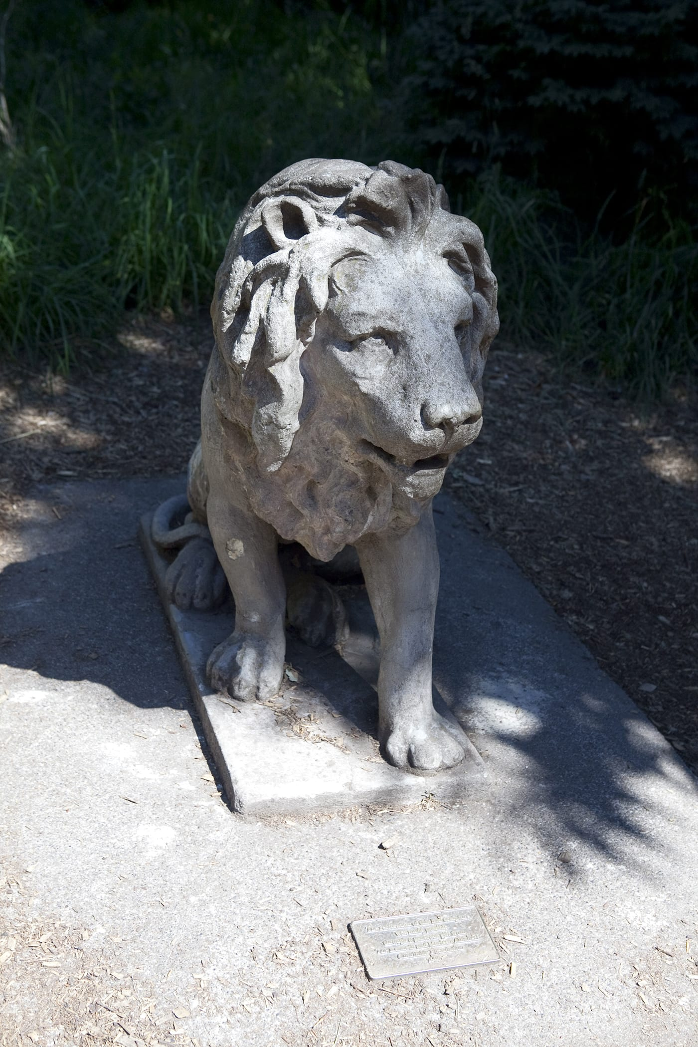 Lion Statue at Woodland Park Zoo in Seattle, Washington.