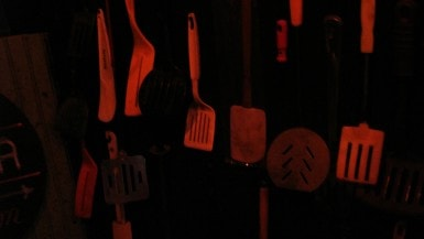 Midwest Spatula Museum in the City Museum's Museum of Mirth, Mystery and Mayhem in St. Louis, Missouri.