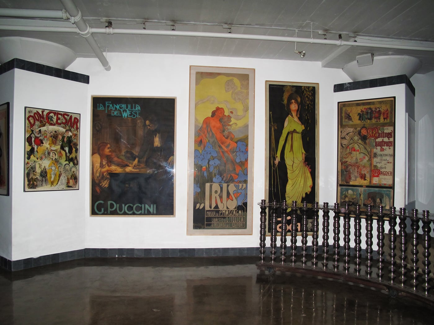 Vintage Opera Posters at The City Museum in St. Louis, Missouri.