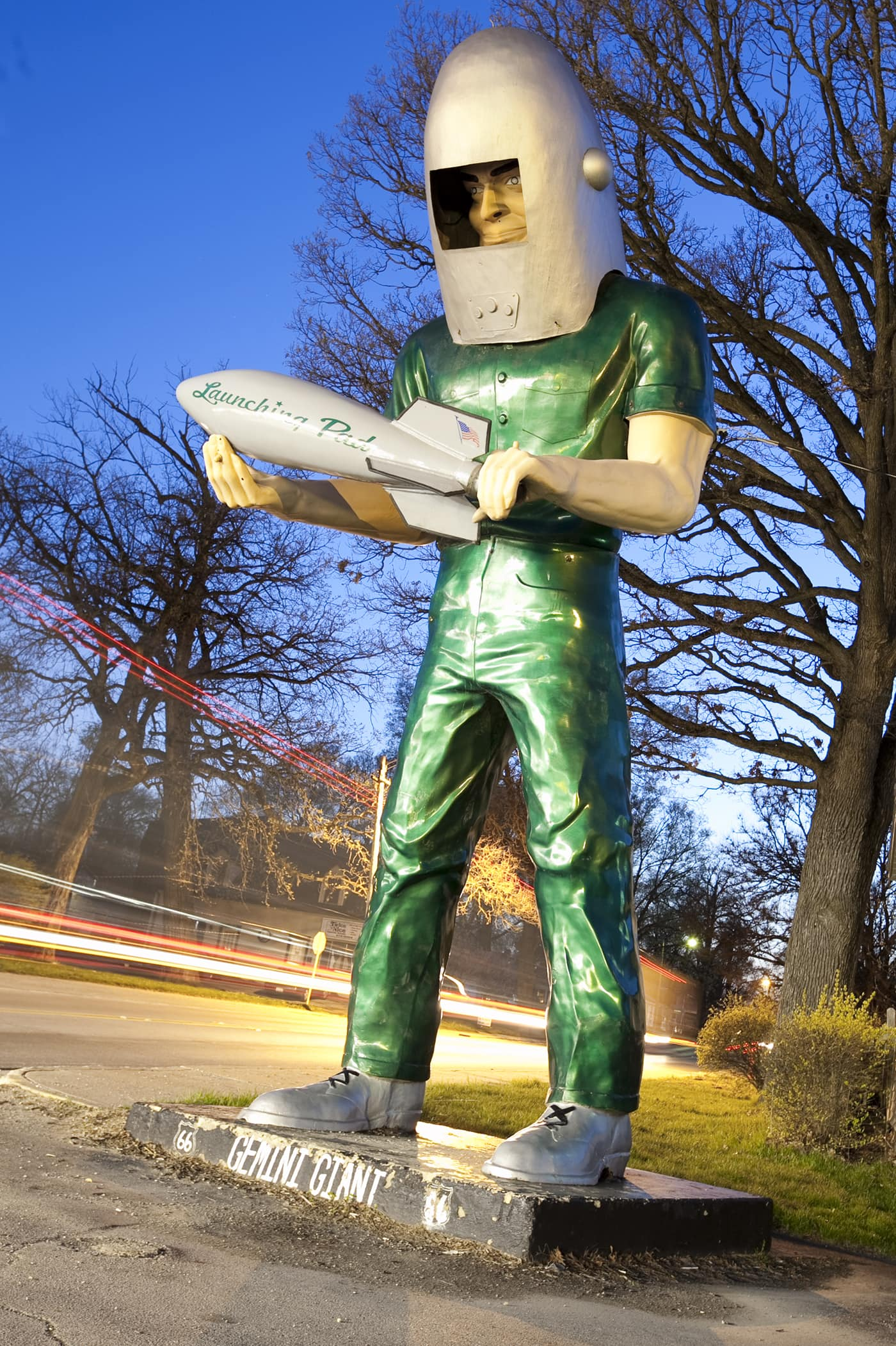 Gemini Giant muffler man at the Launching Pad in Wilmington, Illinois