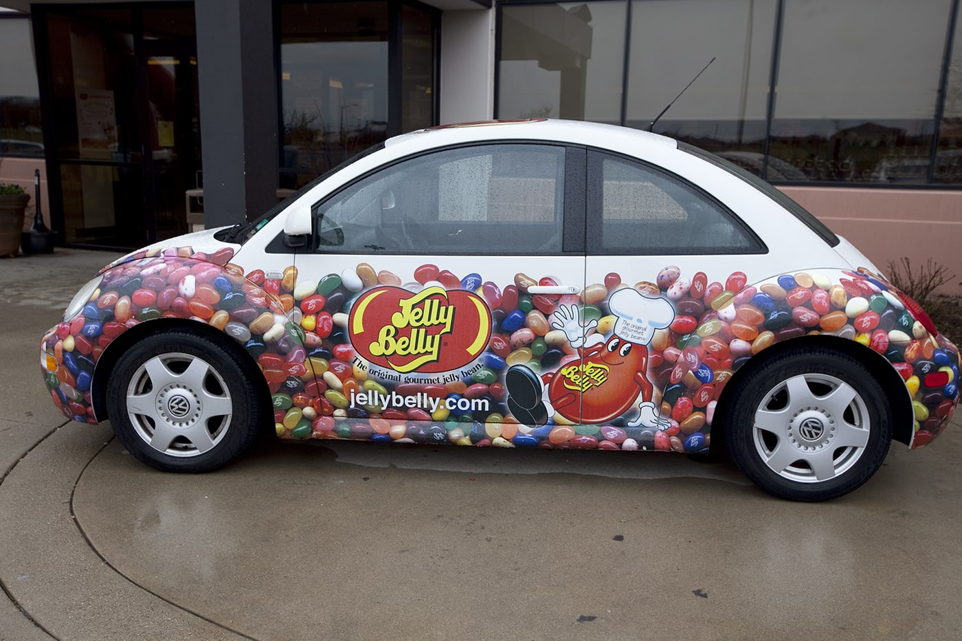 Jelly Belly Volkswagon Beetle at the Jelly Belly Tour in Pleasant Prairie, Wisconsin