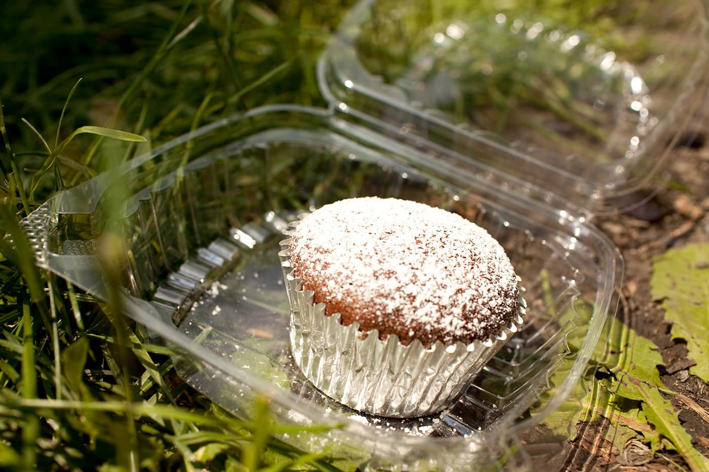 Mashed potato filled chocolate cupcake from Polo Café & Catering at Taste of Chicago