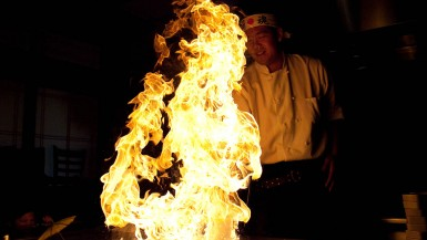 Hibachi dinner in Virginia