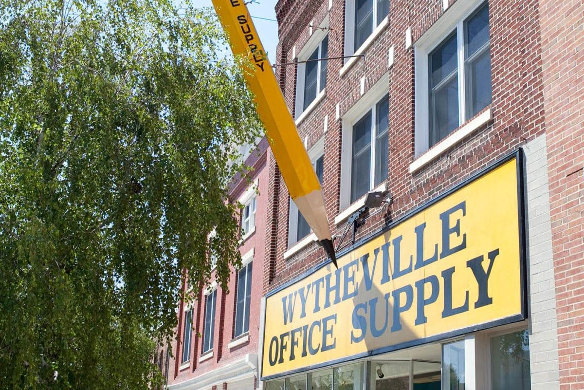 ✏️ Big Pencil in Wytheville, Virginia