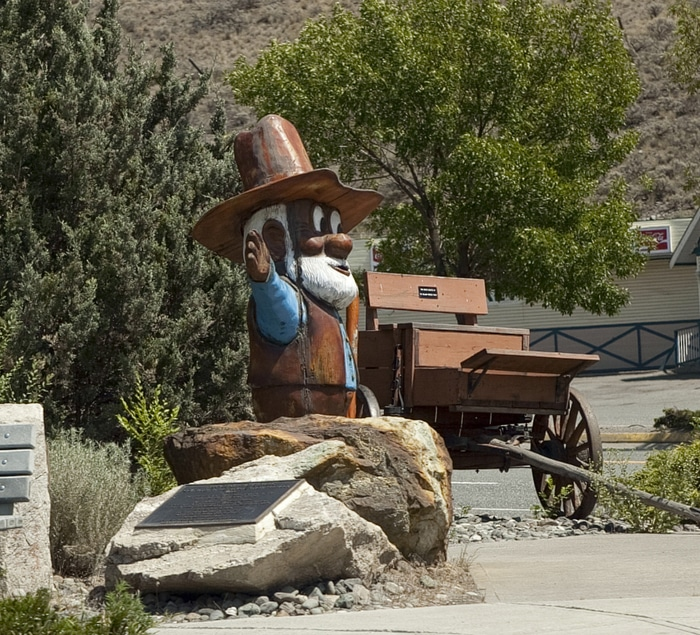 Gold Miner Statue in Cache Creek, British Columbia