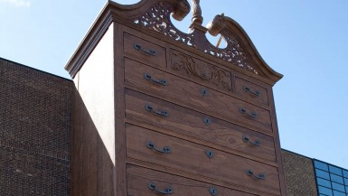 World's Largest Highboy Chest of Drawers in Jamestown, North Carolina