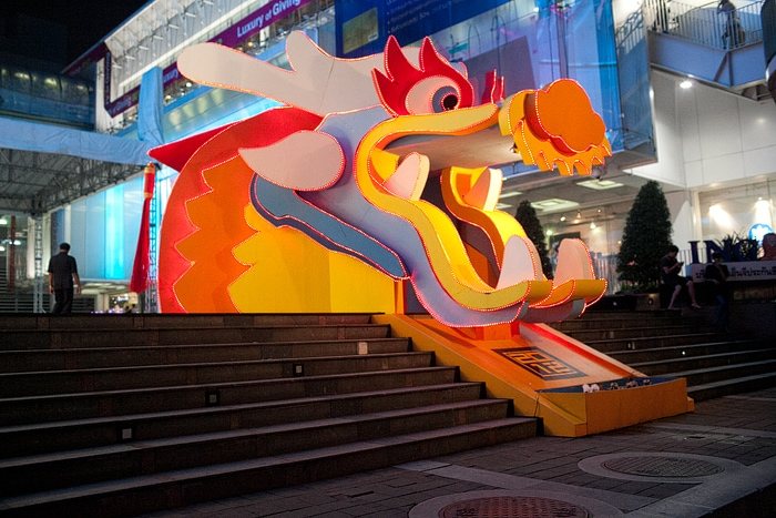 Fire-Breathing Dragon in Bangkok, Thailand