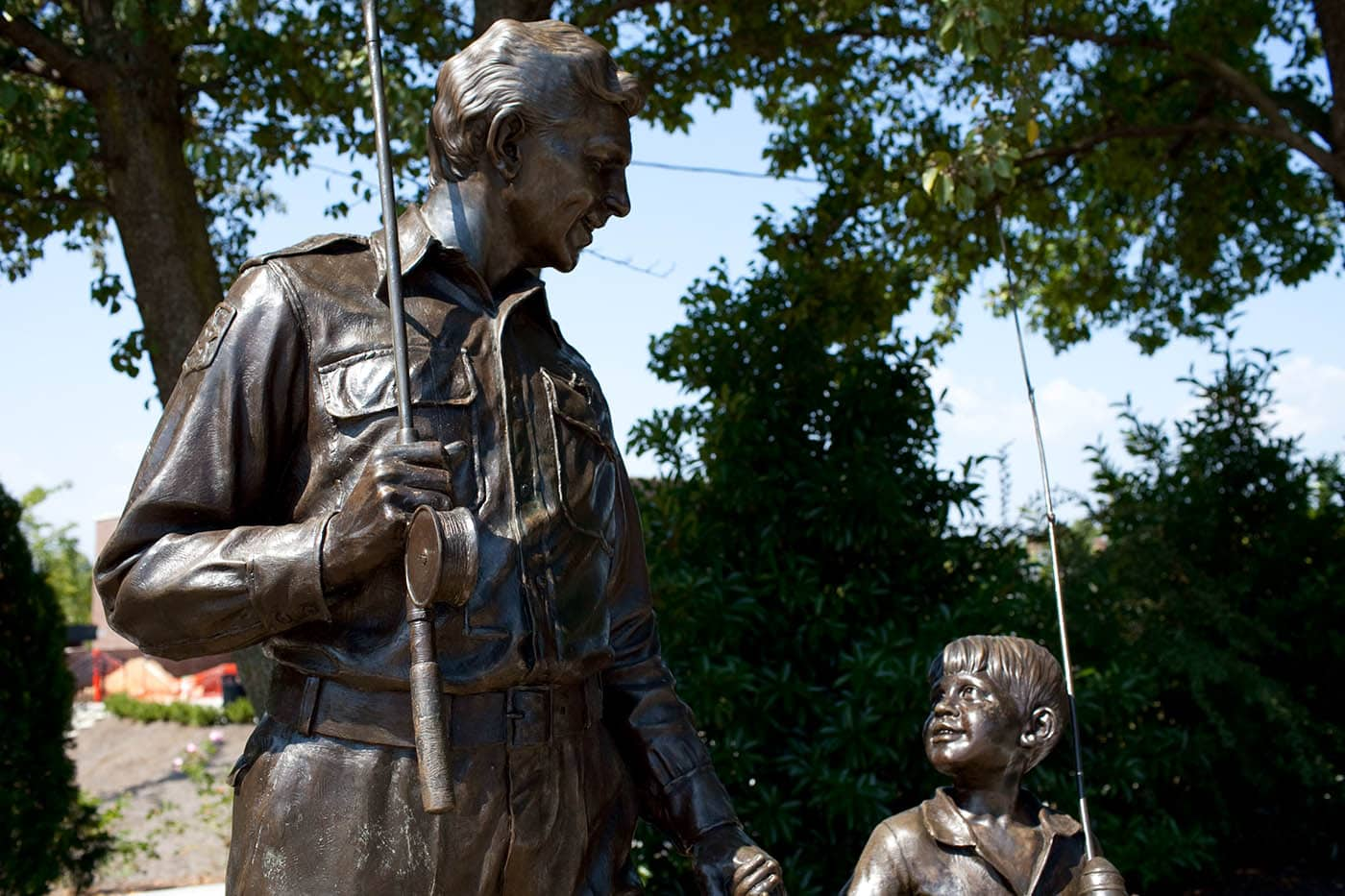 Andy Griffith Statue in Mount Airy, North Carolina – Home of Mayberry