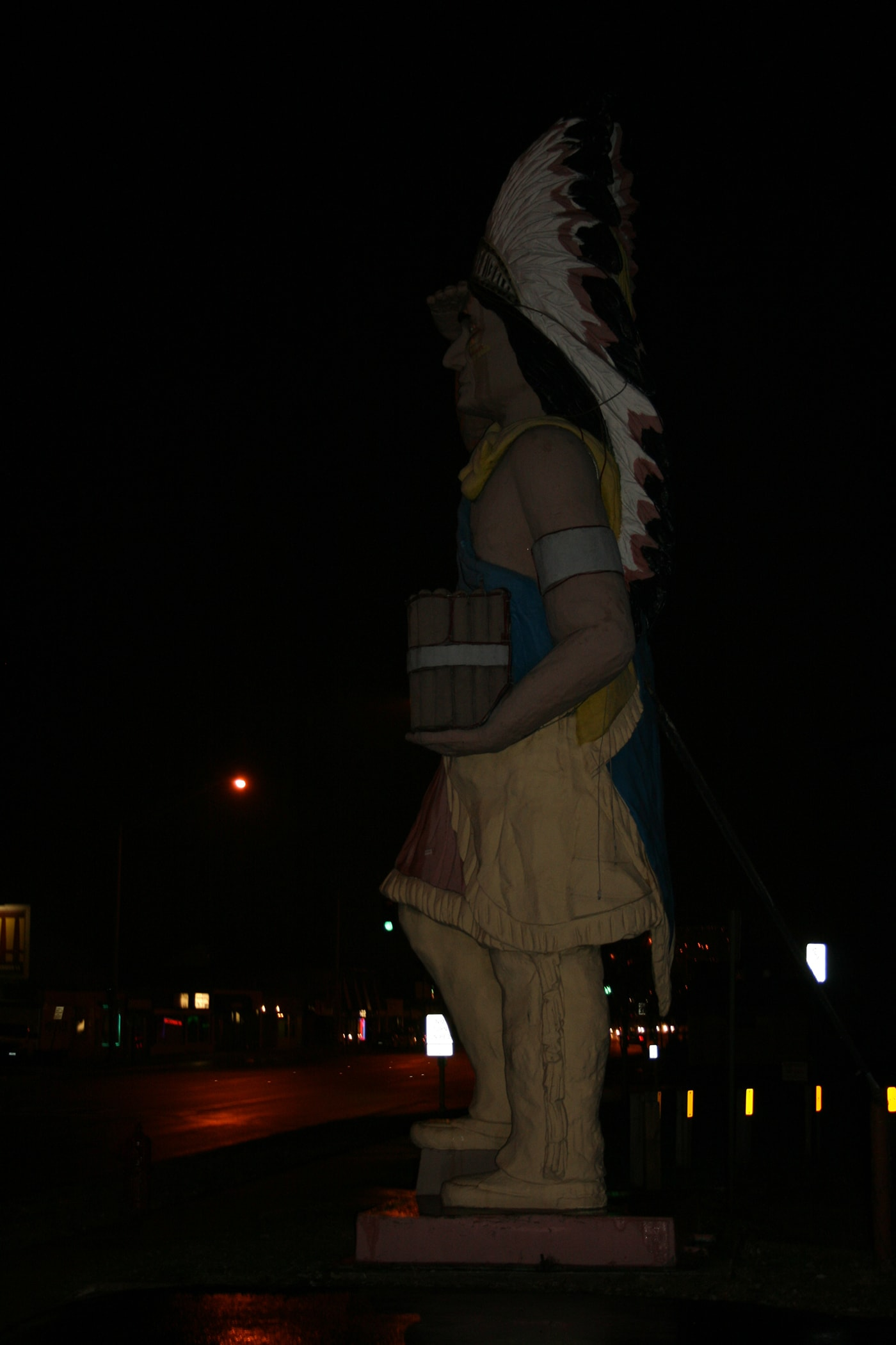 Big Chief - Giant Cigar Store Indian in Oak Lawn, Illinois