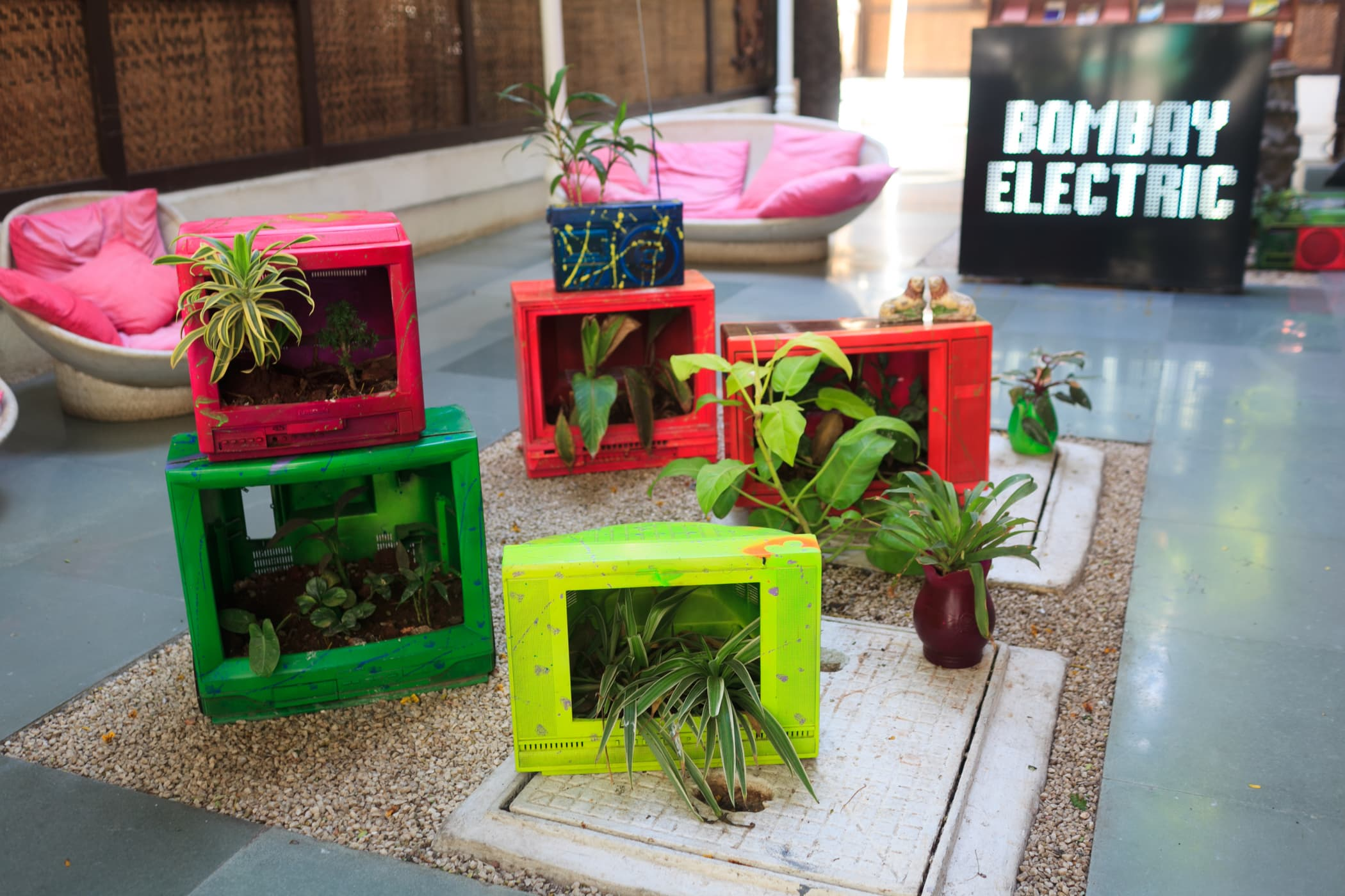 TV Planters outside Bombay Electric in Mumbai, India