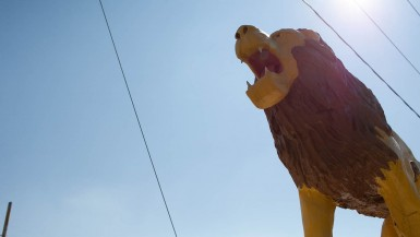 Lions Club Lion Statue in Thomasville, North Carolina