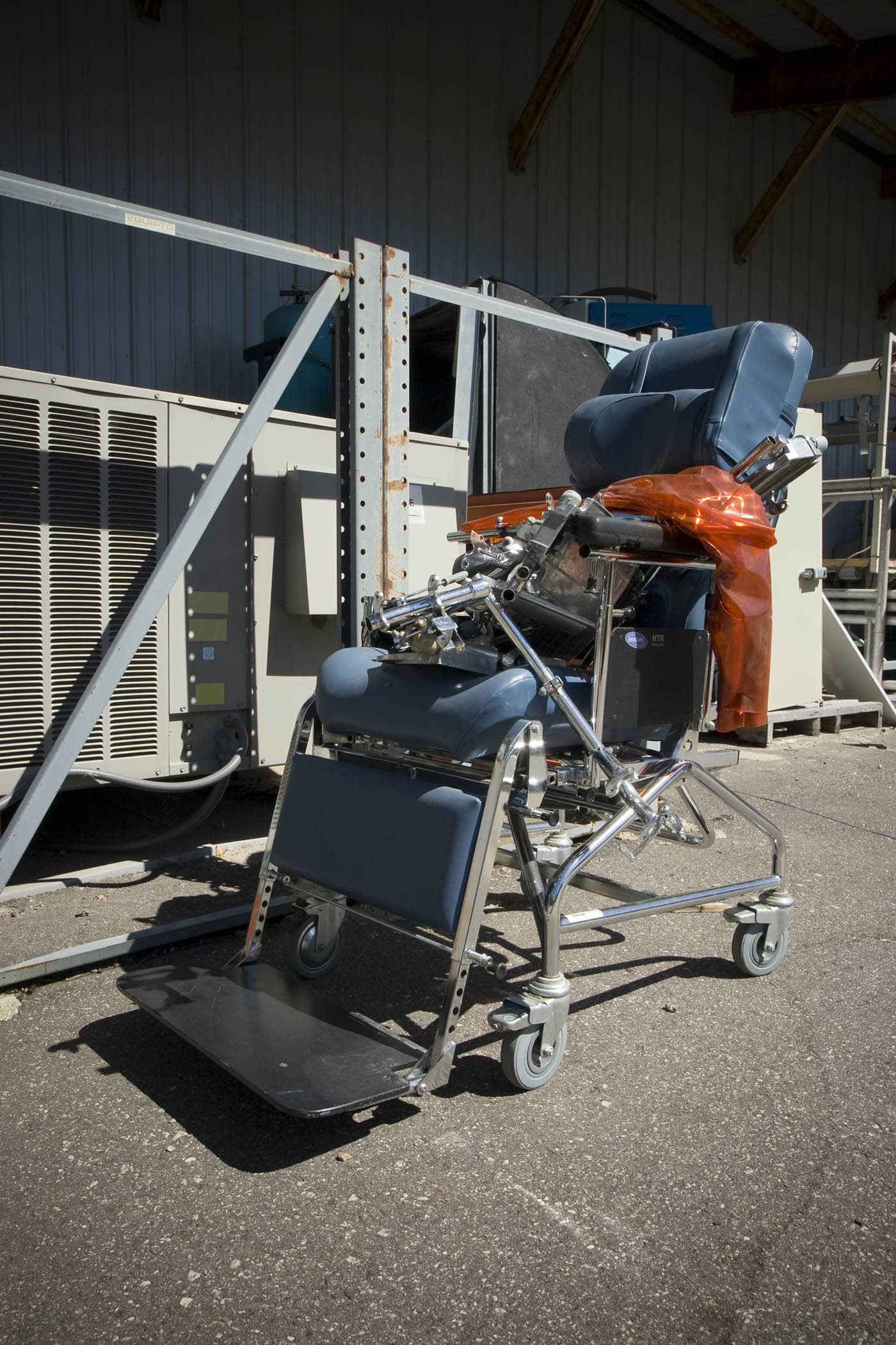 Old dentist chair. The world's largest scrap metal sculpture, Dr. Evermor's Forevertron at Delaney's Surplus Sales in Sumpter, Wisconsin, is meant for intergalactic travel. Visit this weird roadside attraction on a Wisconsin road trip.