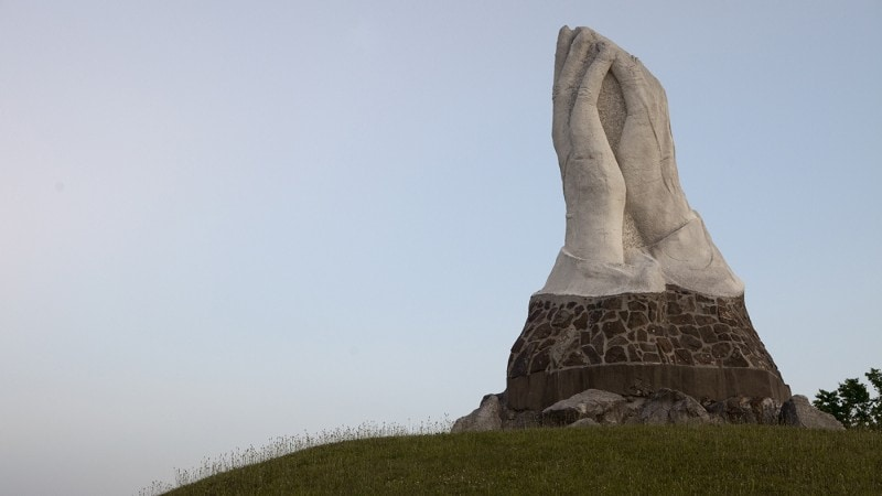Giant Praying Hands in Webb City, Missouri