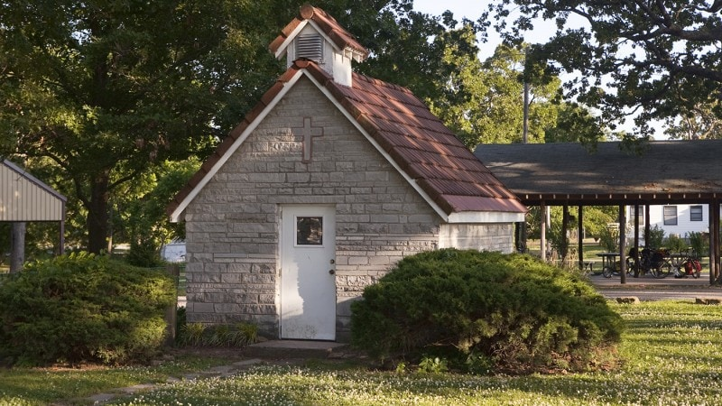 Miniature Church in Golden City, Missouri