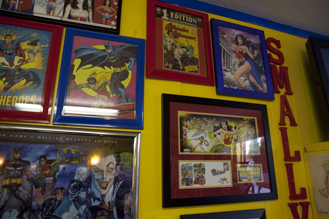Superman art. SuperTAM on 66 - Superman Memorabilia & Ice Cream in Carterville, Missouri