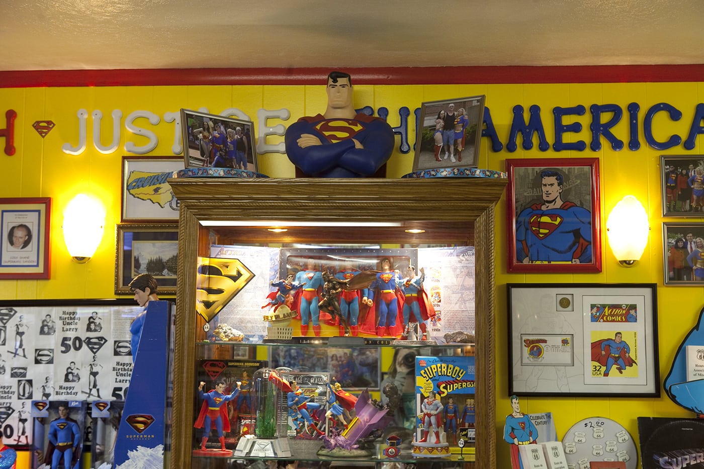 Superman action figures SuperTAM on 66 - Superman Memorabilia & Ice Cream in Carterville, Missouri