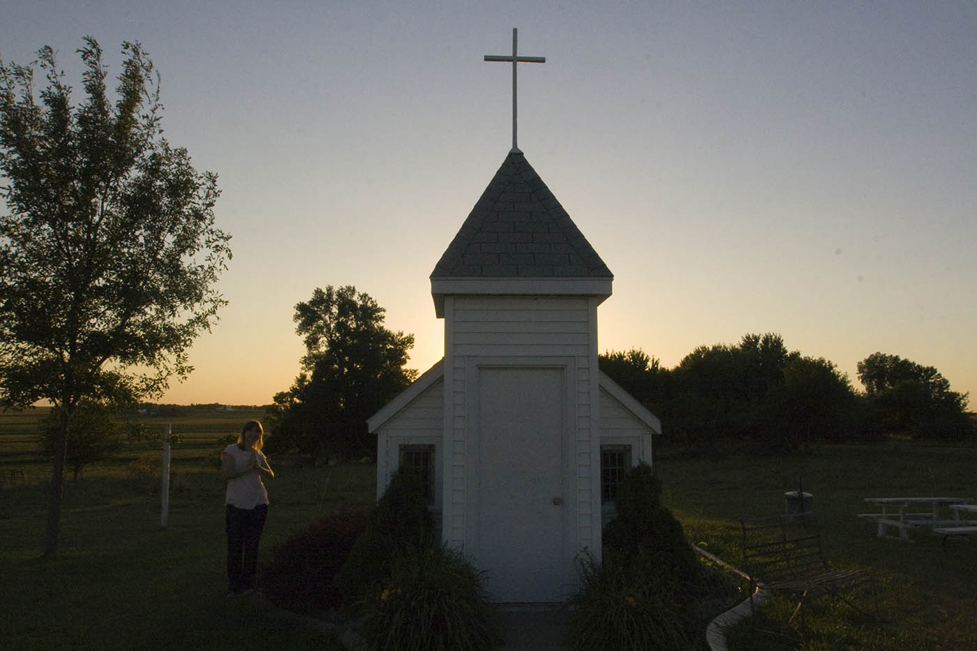 Blue Mound Wayside Chapel - Tiny Church in Luverne, Minnesota