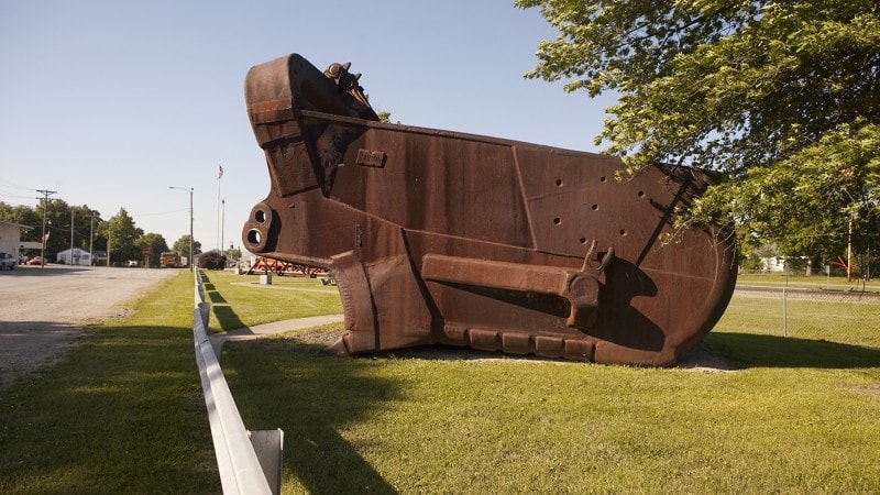 World's Largest Coal Shovel in Rich Hill, Missouri