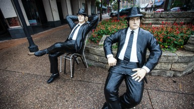 Blues Brothers Statue in Rock Island, Illinois