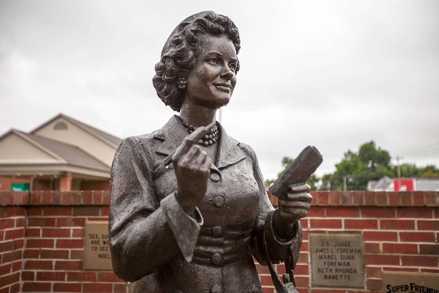 Bronze Lois Lane Statue in Metropolis, Illinois