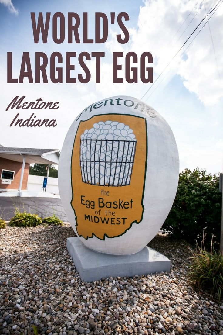 World's Largest Egg in Mentone, Indiana - Indiana Roadside Attractions.