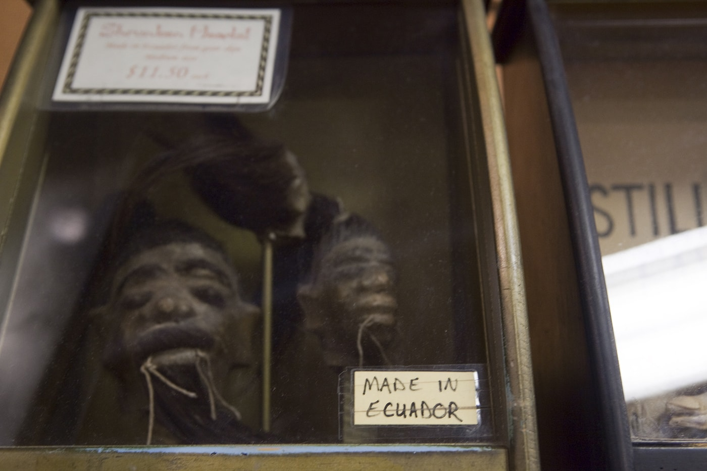 Shrunken heads at Ye Olde Curiosity Shoppe in Seattle, Washington