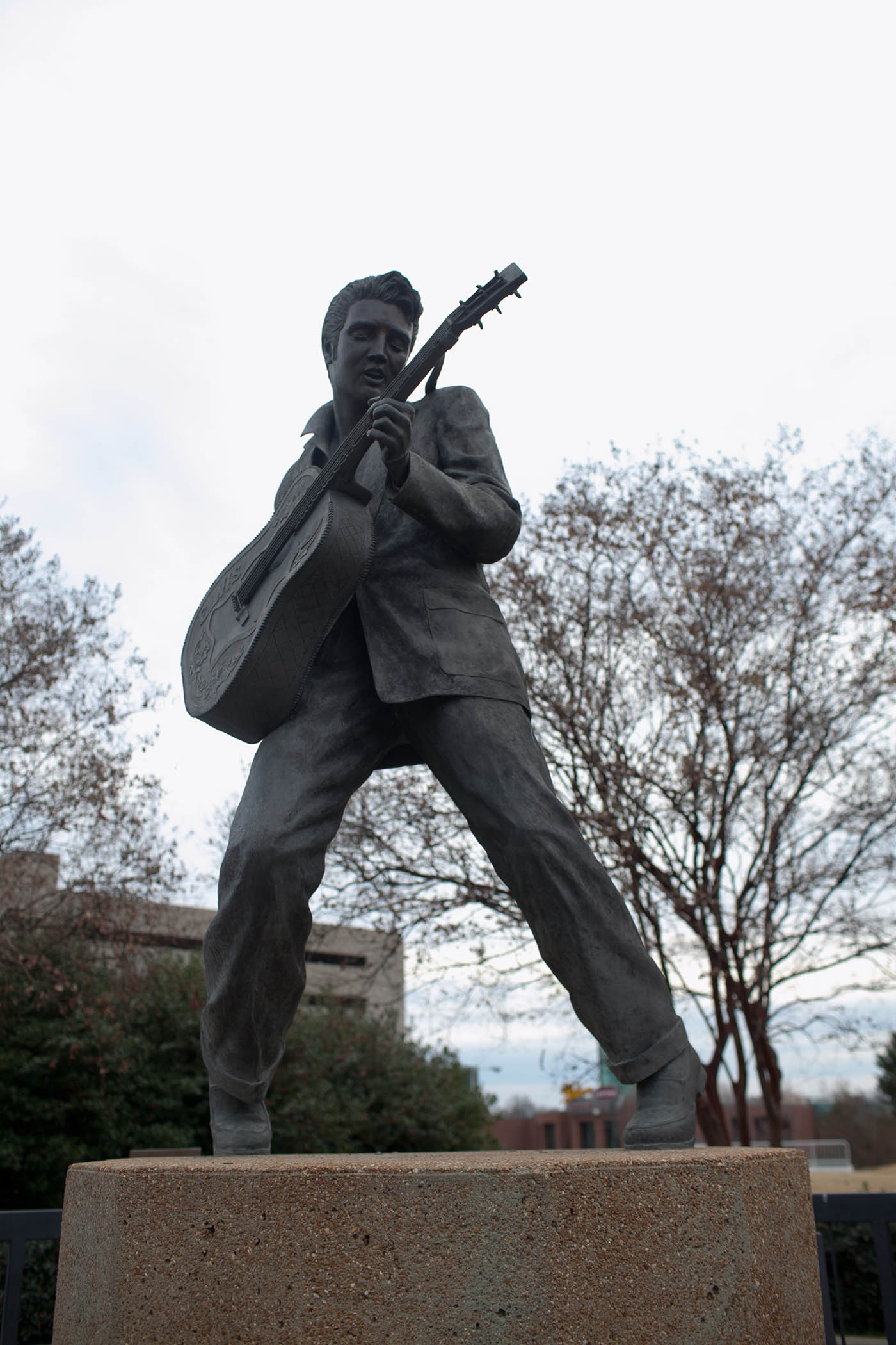 Elvis statue in Memphis, Tennessee on Beale Street - Roadside attraction in Tennessee