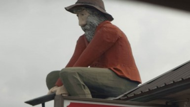 Gold Prospector Statue in Sumas, Washington