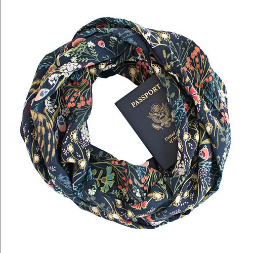 Hidden Pocket Infinity Scarf by Speakeasy Supply Co. | 50 Best Road Trip Gift Ideas for Road Trip Travelers