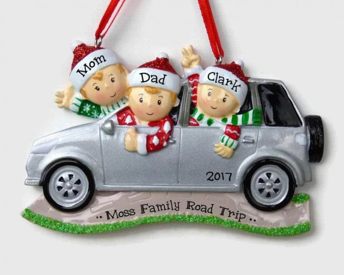 Road Trip Personalized Ornament by Ornaments in the Green | 50 Best Road Trip Gift Ideas for Road Trip Travelers