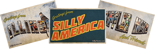 Silly America Roadside Attractions Postcards