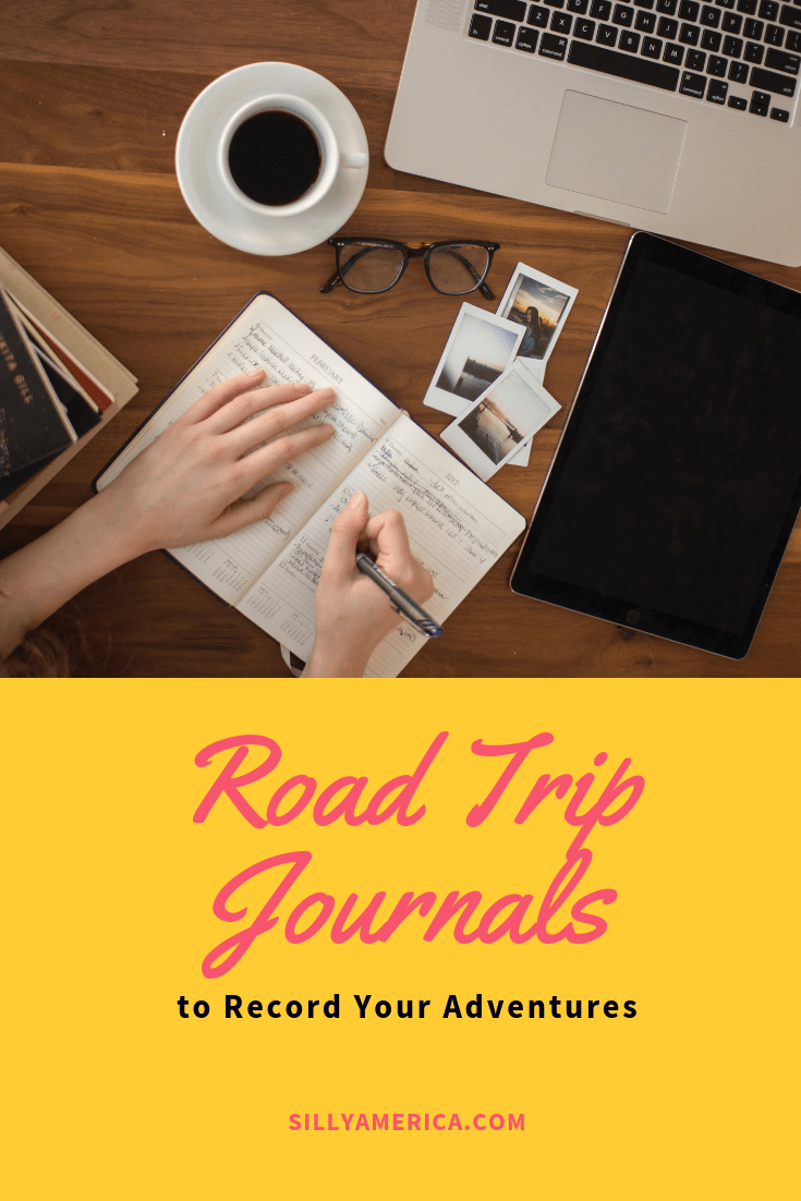 Road trip Journals to record your adventures. Keeping a road trip journal while on a road trip in the perfect way to memorialize your travels, archiving daily logs of what you did, what you saw, where you stayed, and what you ate. Many of these road trip essentials diaries contain travel prompts to get you started alongside blank pages for free writing, keeping a bullet journal, or doodling.  #RoadTripEssentials #LongRoadTripEssentials #RoadTripEssentialsList  #RoadTripBulletJournal