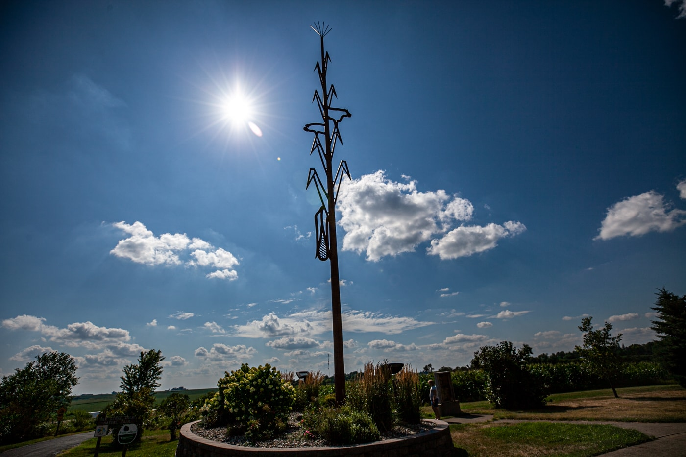 Agri-Symbol: The agricultural symbol is a 76-Foot-Tall Corn Stalk in Shelby, Iowa | Iowa Roadside Attractions