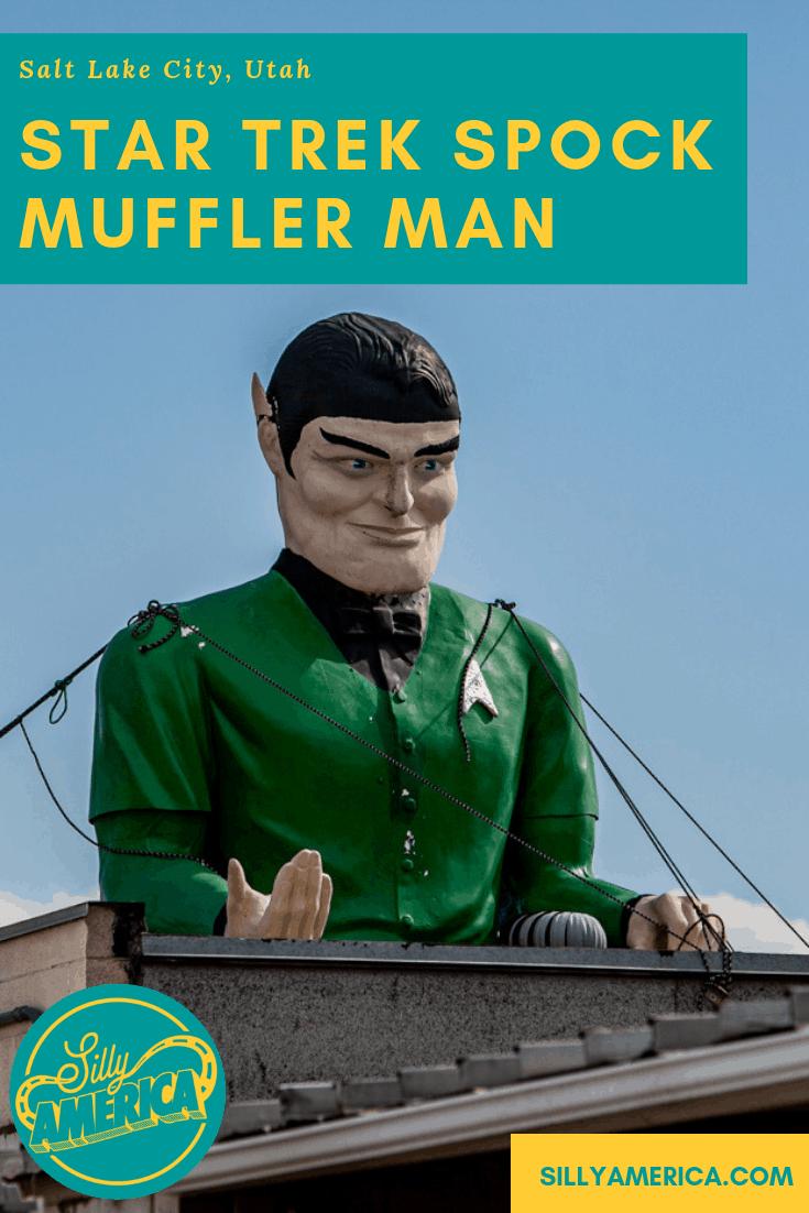 Star Trek Spock Muffler Man in Salt Lake City, Utah at Rainbow Neon Sign Company   Utah Roadside Attractions