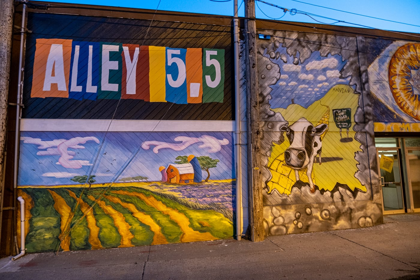 Alley 5.5: Bismarck Art Alley in North Dakota - Street art and Murals in Bismarck, North Dakota